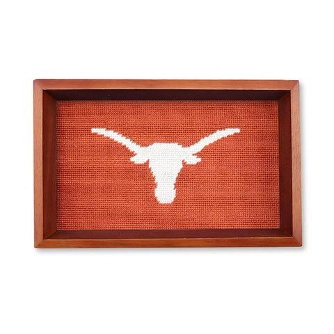 UT Needlepoint Valet Tray