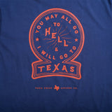 You May All Go To Hell Pocket T-Shirt - Navy