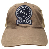 You May All Go To Hell Trucker Hat Driftwood/Khaki