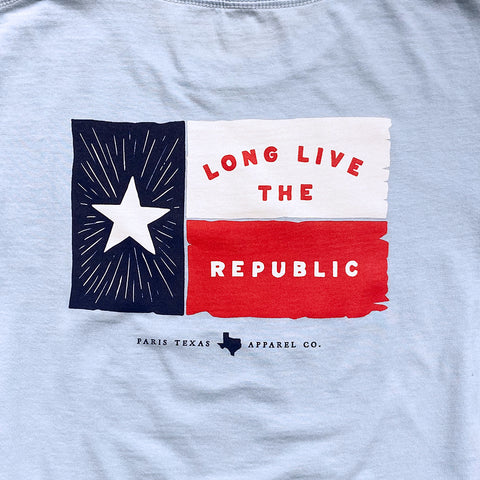 Youth Lone Star Flag T-Shirt - Chambray