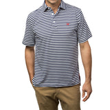 East Beach Polo - Medieval/White Stripes