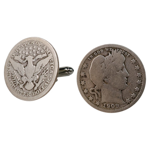 Vintage New Orleans Token Stud Set & Cufflinks