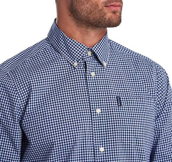 Barbour Gingham 19 Tailored Inky Blue