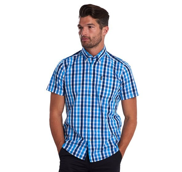 Barbour Gingham 20 S/S Tailored Blue