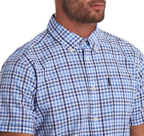 Barbour Seersucker Print 6 S/S Summer Shirt
