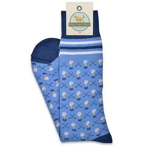 Greens Fee Socks - Light Blue