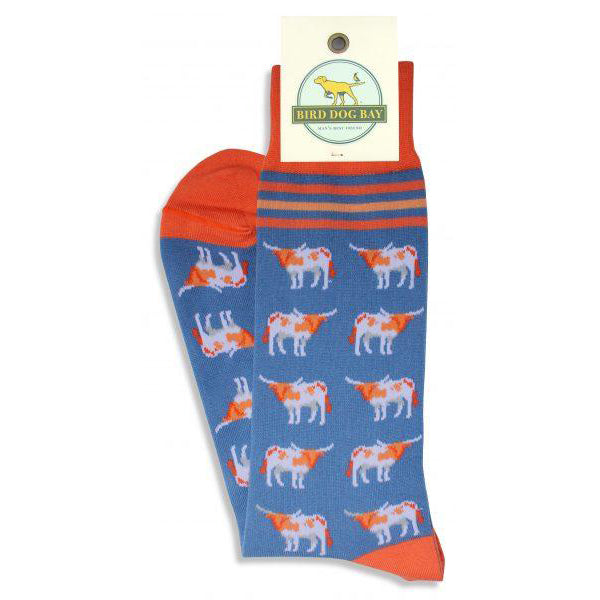 bird_dog_bay_Longhorn_Stable_Socks_Blue