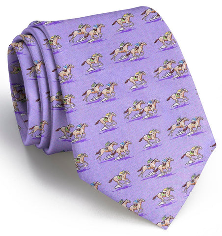 Longhorn Woven Tie - Light Blue