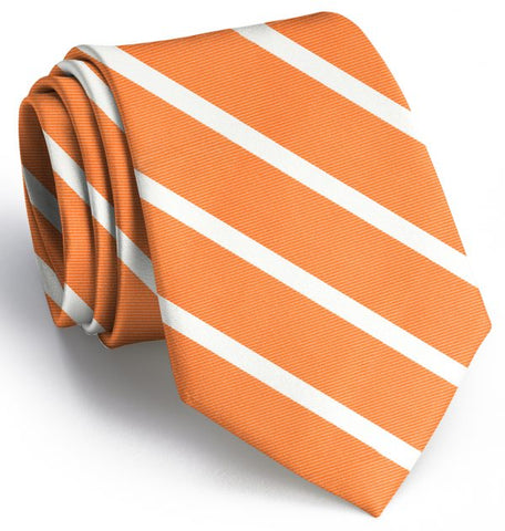 Beau Brummel Stripe Tie - Orange