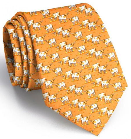 Longhorn Country Tie - Gold