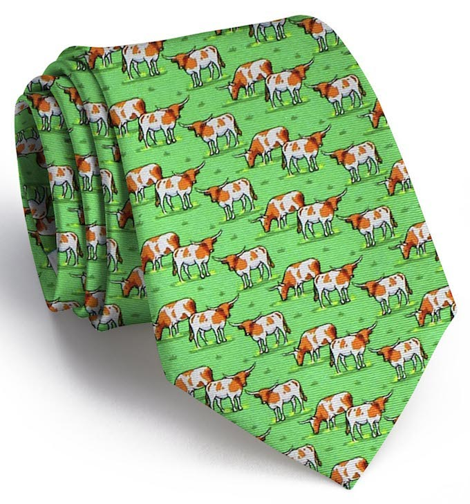 Longhorn Country Tie - Green