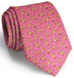 Soaring Stags Tie - Coral