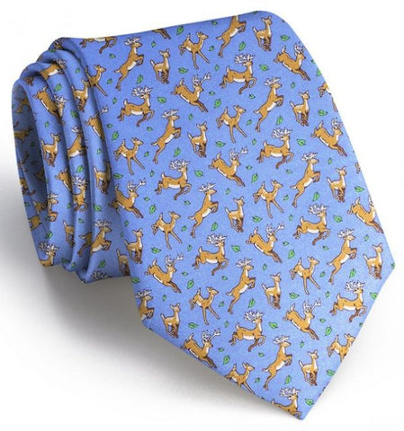 Soaring Stags Tie - Light Blue