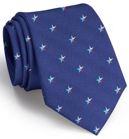 Texas Star Tie - Navy
