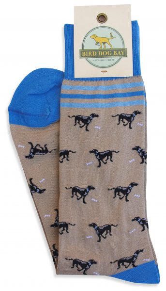 Bird Dog Bay Lucky Labs Socks - Tan/Black