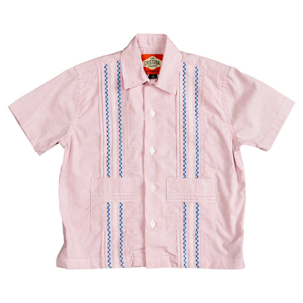 Panama Boys Guayabera - Red