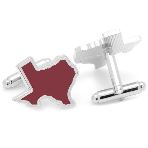 Maroon State of Texas Cufflinks