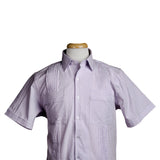 charleston_dictator_lavender_striped_seersucker_guayabera_mens_shirt
