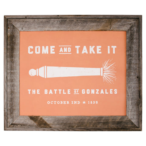 Come and Take It Print - Burnt Orange