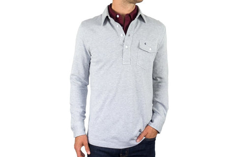 Light Heather Grey Long Sleeve Players Shirt