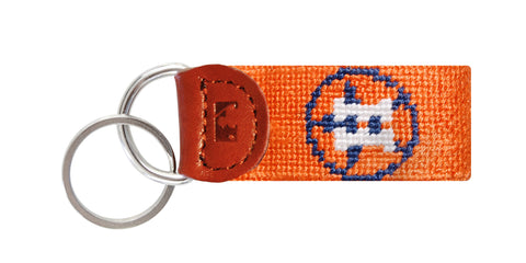 Houston Astros Needlepoint Key Fob