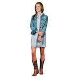 Newport Women's Guayaberas Dress - Light Blue