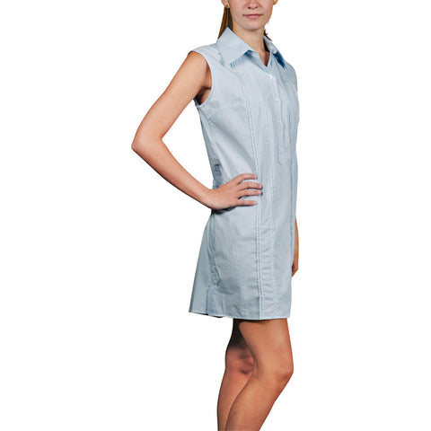 Newport Women's Sleeveless Guayaberas Dress - Light Blue