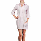 Cartagena Women's Guayabera Dress - Pink