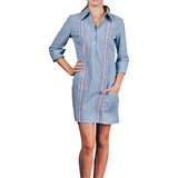 Monterey Women's Guayabera Dress-Royal