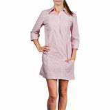 Nantucket Women's Guayabera Dress - Red