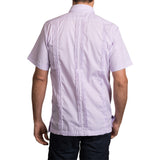 Guayabera Men's Shirt, LSU Hemingway Mini Check Purple, Mexican Shirts for Men 3