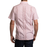 Guayabera Men's Shirt, UT Hemingway Mini Check Burnt Orange, Mexican Shirts for Men 3