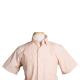 Charleston Striped Seersucker Sorbet Orange - Dictator Guayabera