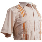 University of Texas Longhorn Guayabera with Burnt Orange Embroidery, Mexican Shirts for Men 2