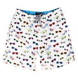 Michael's Sunglasses Swim Trunks - White