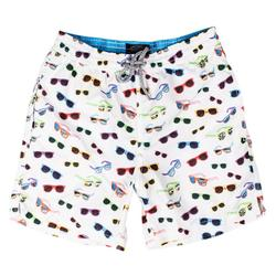 Sunglasses Swim Trunks - White