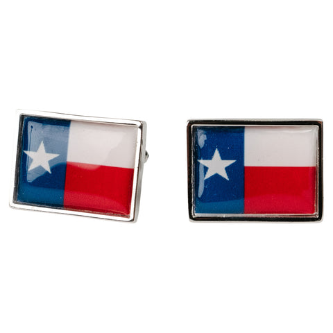 Guyana Sterling Silver Flag Cufflinks