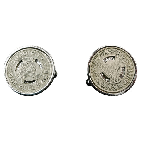 1919 New Orleans Transit Token Cufflinks