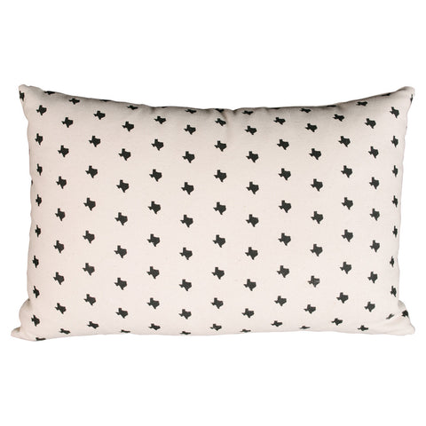 Texas Print Lumbar Pillow
