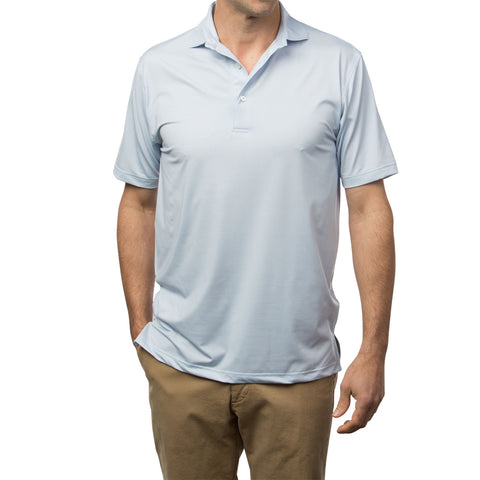 Baldwin Check Performance Polo - Sky