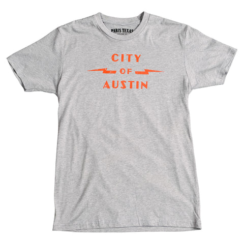 City of Austin Power Plant T-Shirt - Heather Gray