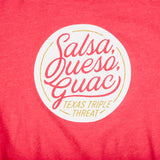Salsa, Queso, Guac T-Shirt - Red