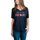 Deep in the Heart Women's V-Neck T-Shirt - Navy