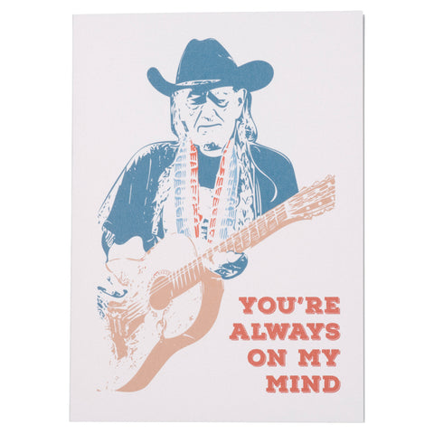 Always on My Mind Willie Nelson Card