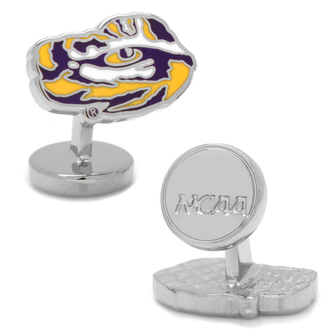 Palladium LSU Tiger's Eye Cufflinks