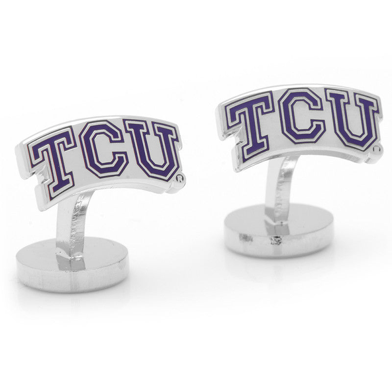 Palladium TCU Horned Frog Cufflinks