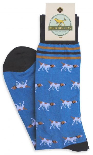 Bird Dog Bay Pointer Parade Socks - Blue