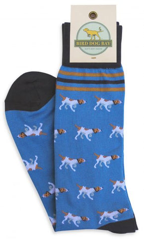 Pointer Parade Socks - Blue