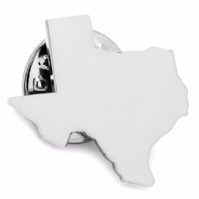 Silver Texas Lapel Pin