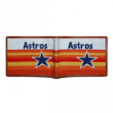 Houston Astros Cooperstown Needlepoint Bi-Fold Wallet